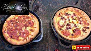Cast Iron Deep Dish Pizza Recipe - Traeger