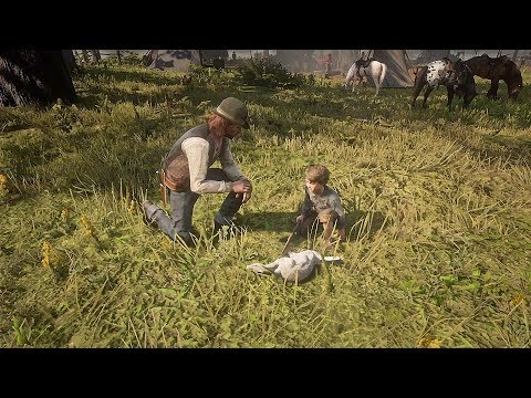 Sean and Jack find a Rabbit / Hidden Dialogue / Red Dead Redemption 2 thumbnail