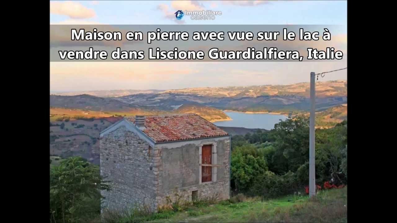 maison en pierre avec vue sur le lac vendre dans liscione guardialfiera italie youtube. Black Bedroom Furniture Sets. Home Design Ideas