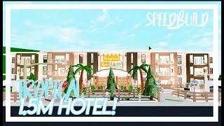 ROBLOX   BloxBurg : Tropical Hotel : Speed Build   1.5 MILLION