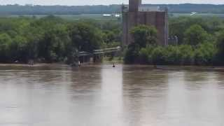 Flooding in Burlington Iowa viewed from Mosquito Point