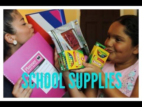 College School Supplies Haul | ft. my little sister