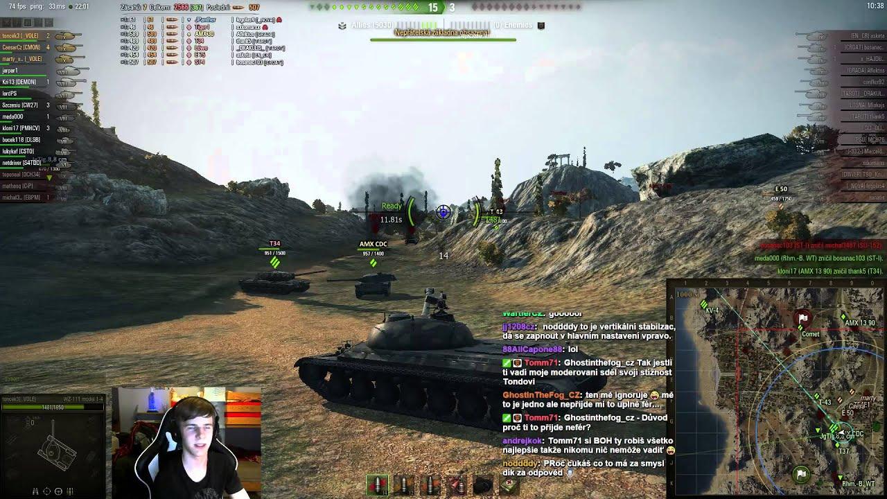 Download World of Tanks CZ - Záznam streamu z 4.5.2015 s martym a Caesarem