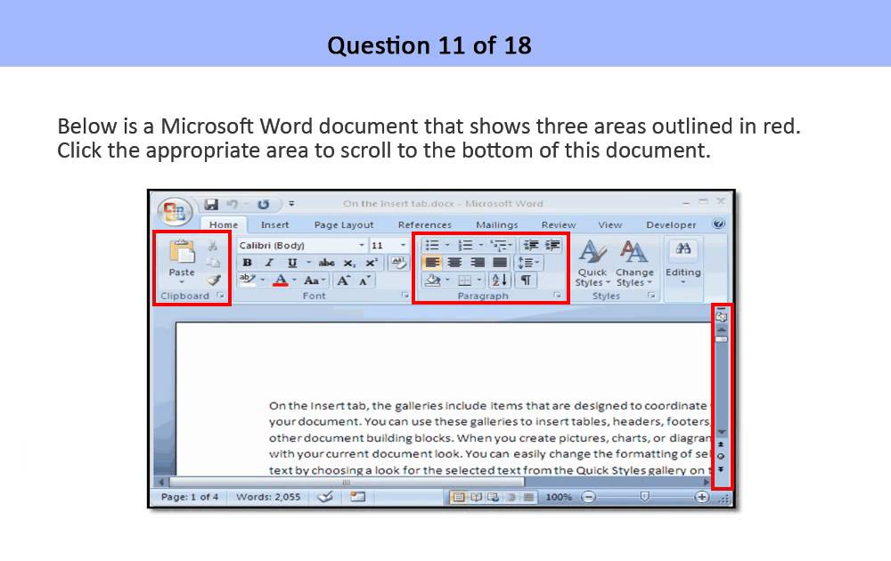 microsoft word assessment test