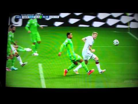 2014 World Cup Germany vs. Algeria Andre Schürrle goal