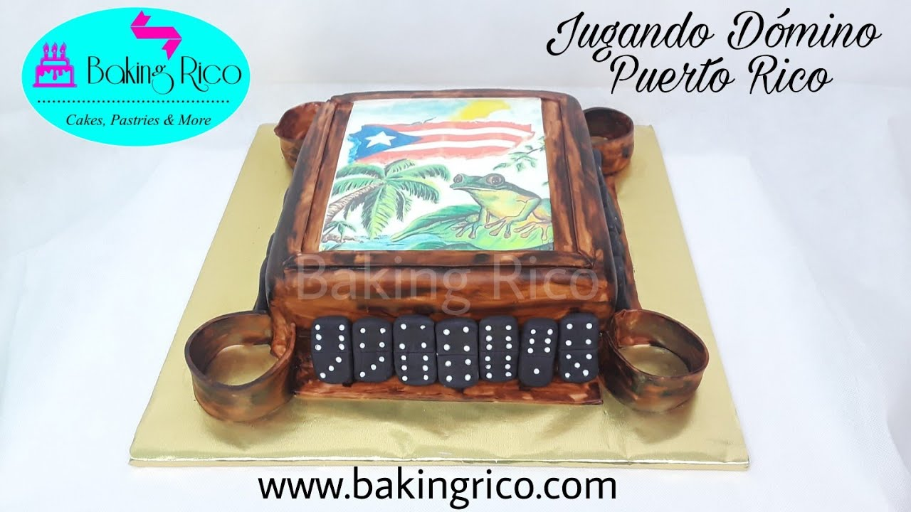 Puerto Rico Dominoes Table Cake Youtube