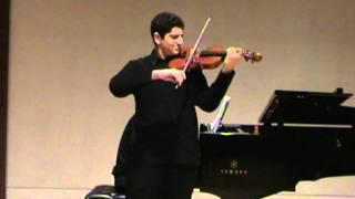 Amir Safavi: Prokofiev Violin Concerto No.2 Andante Assai