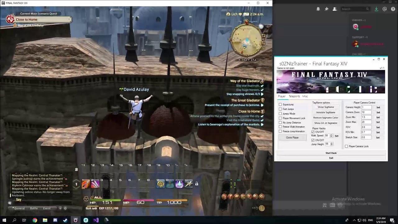 s0ZNIzTrainer - Final Fantasy XIV Cheat !