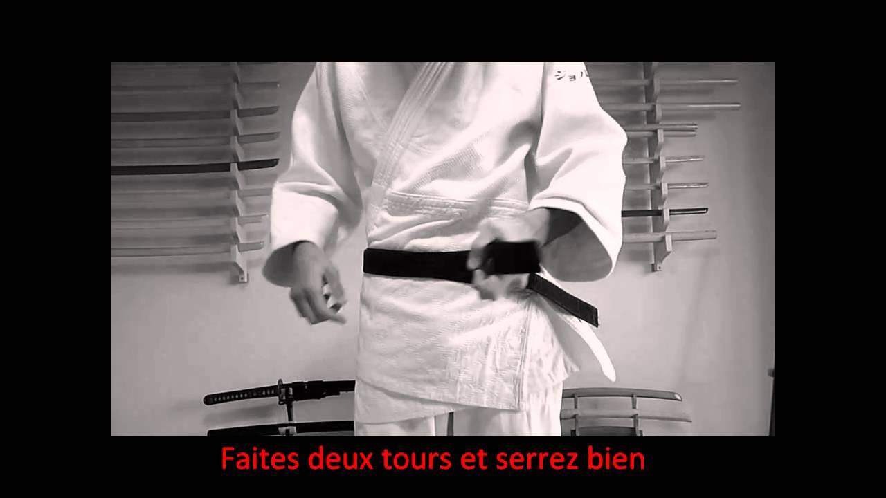 Comment nouer sa ceinture   Aikido, Judo, Karate - Technique sans croisement b86b0c208a5