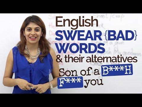 English Swear words/Bad words - English Speaking Practice | Spoken English lesson