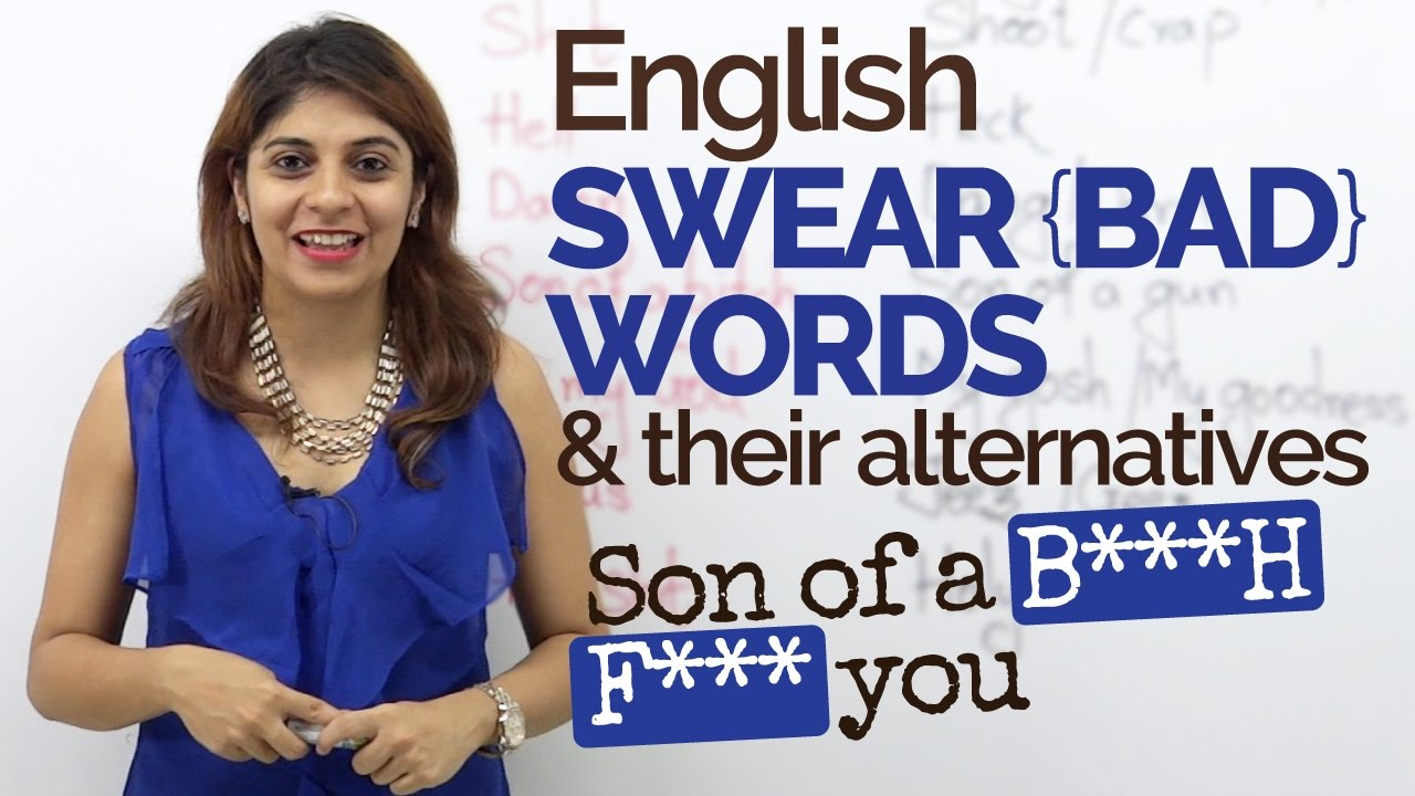 how to speak bad words in english