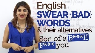 English Swear words/Bad words - English Speaking Practice | Spoken English lesson