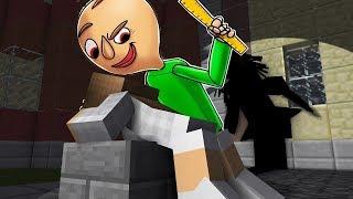 - УЧИТЕЛЬ БАЛДИ НАКАЗАЛ ДЕВУШКА  Школа Монстров в Майнкрафт нуб против Троллинг Baldi s Minecraft