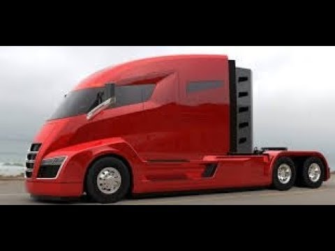 Another New Route For Tesla Its First Electric Semi Tractor Trailer
