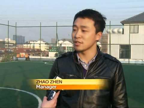 Man builds football stadium on roof