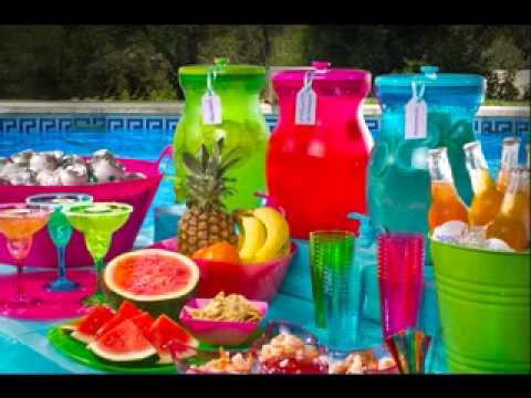 Pool Party Decorations Ideas summer pool party decorations Pool Party Decoration