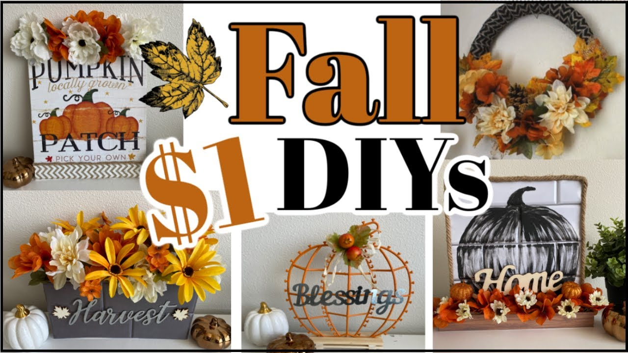 5 High End Dollar Tree FALL DIYs | Farmhouse Fall Home Decor 2020