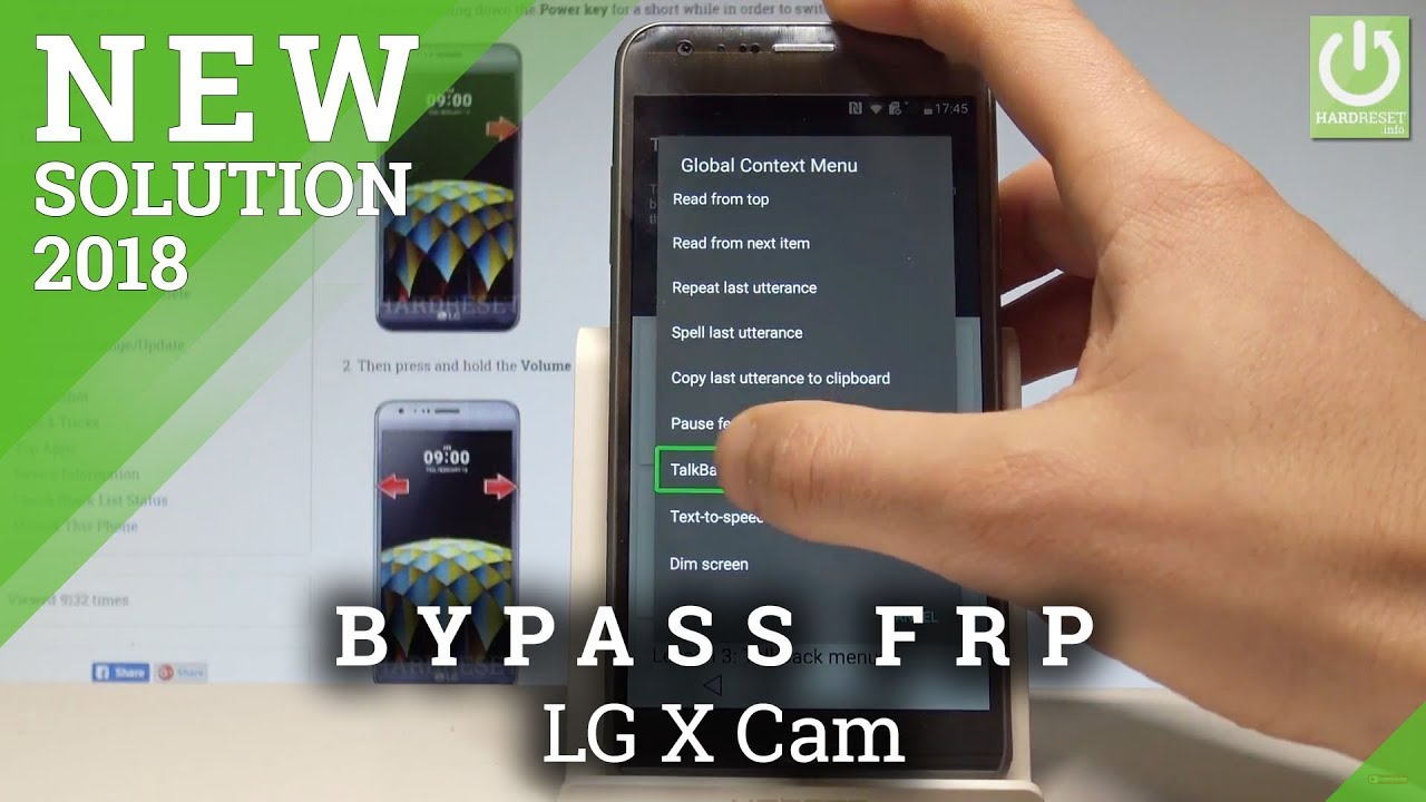 Unlock FRP LG X Cam / Bypass Google Verification in LG 2018