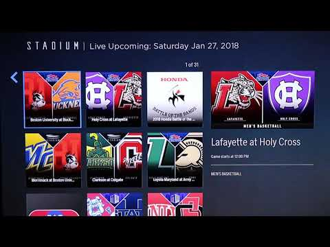 First Look: Stadium - 24/7 FREE Sports on Roku