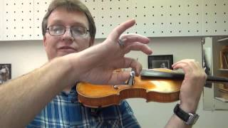Violin Bow Hold - Curved Thumb Trick