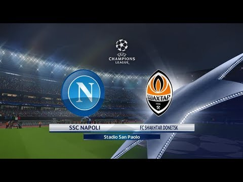 Napoli vs Shakhtar | UEFA CHAMPIONS LEAGUE | PES 2018 | Gameplay PC