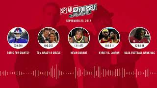 SPEAK FOR YOURSELF Audio Podcast (9.20.17) with Colin Cowherd, Jason Whitlock | SPEAK FOR YOURSELF