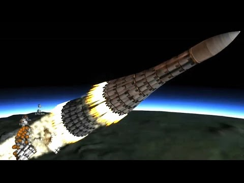 KSP  The 36 000 ton Mountain king - largest rocket ever !