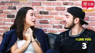 """YanDre on PEP Talk. Yassi Pressman and Andre Paras play """"I Like You Meter"""""""