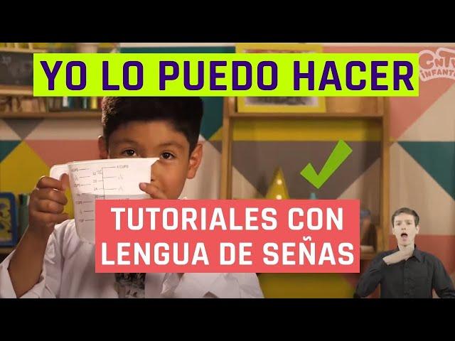 Yo lo puedo hacer | Huevo saltarín | Videos en lengua de señas chilena para niños