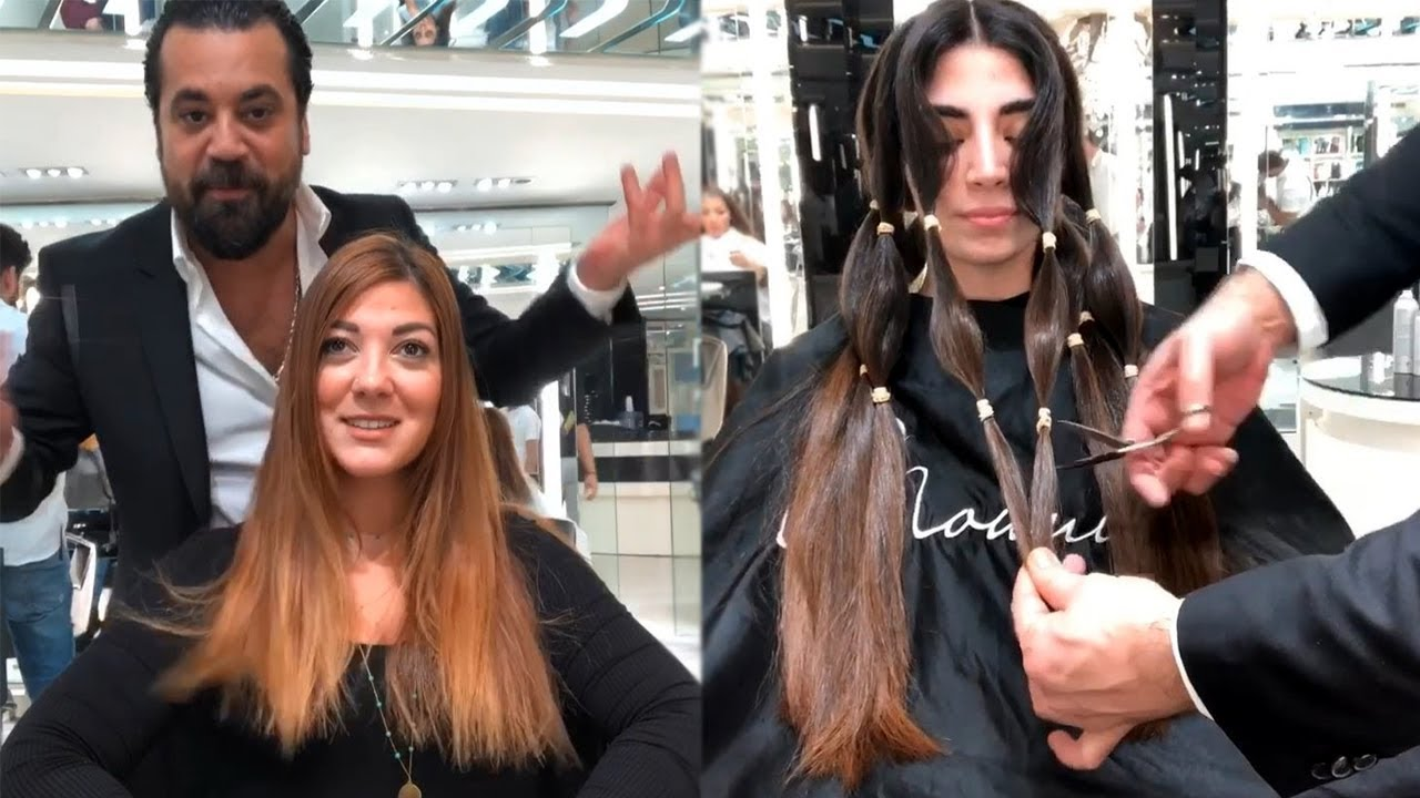 top 10 hair transformations by mounir salon | new hairstyle
