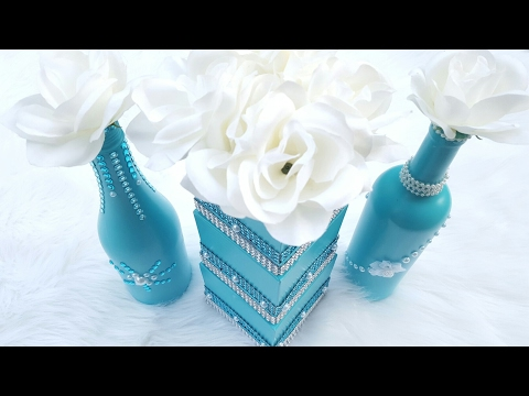 Dollar Tree DIY Wedding Centerpiece | Tiffany Blue Bridal Shower