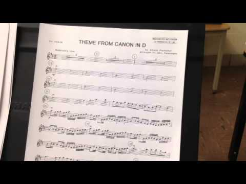 Theme From Canon In D Violin 1 Youtube