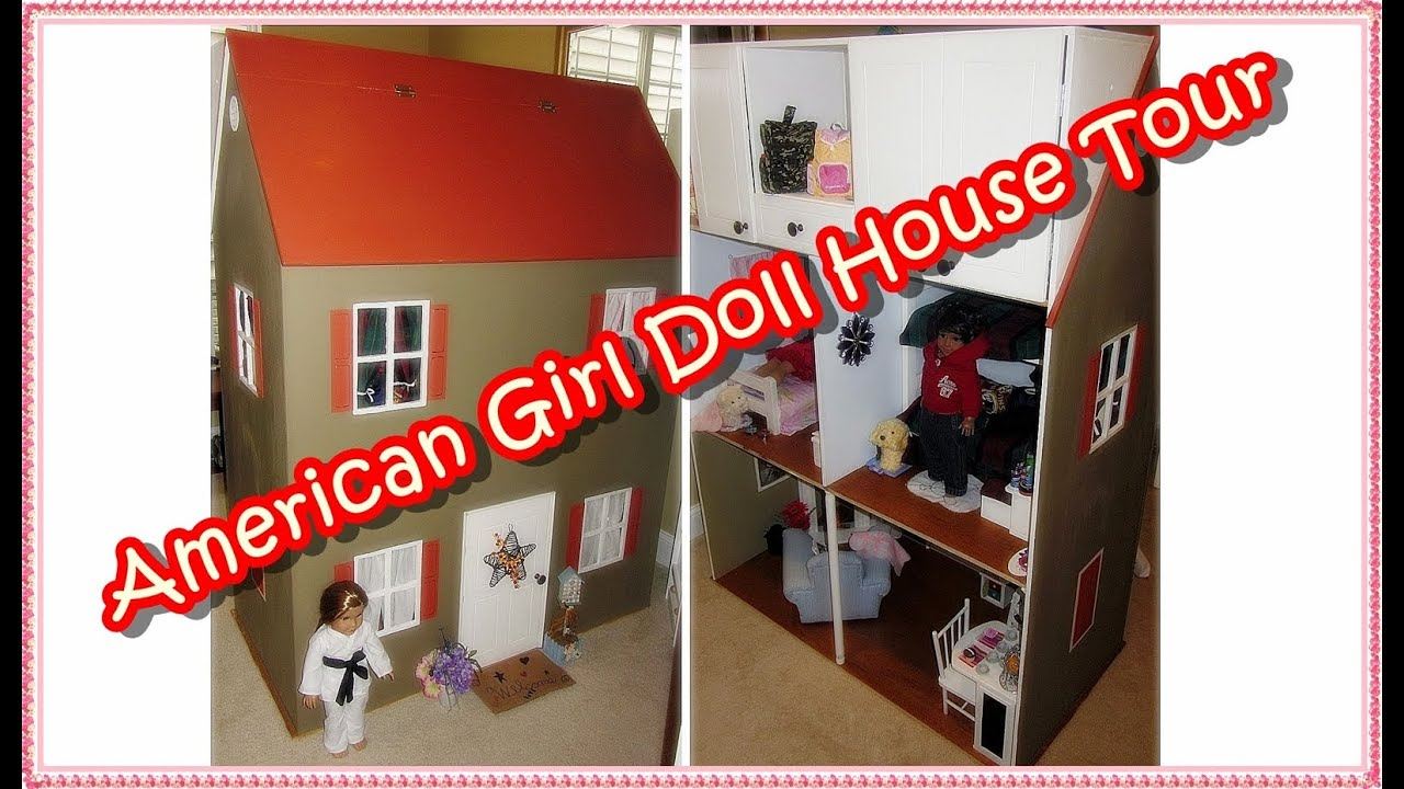 "american girl doll house tour"" (custom made ag doll house): how i"