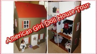 """american Girl Doll House Tour"" (custom Made Ag Doll House): How I Made It"