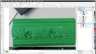 artcam relief, 2/3: draw vectors of leaf and stem in CorelDraw