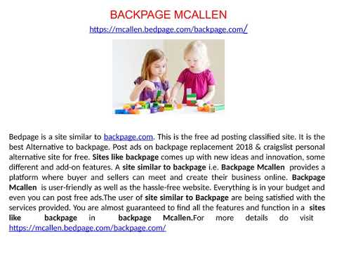Backpage Mcallen
