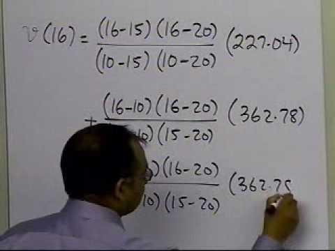 Quadratic Lagrangian Interpolation: Example: Part 2 of  2