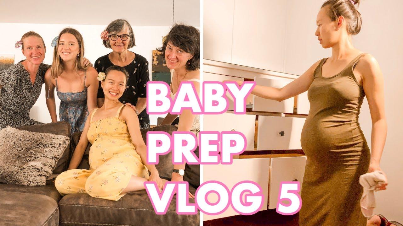 PREPARING FOR BABY series; 34 weeks pregnant, baby shower, dancing