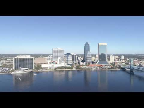 Dji Phantom 4 Advance 4K Drone Shots Downtown Riverbank Jacksonville, FL