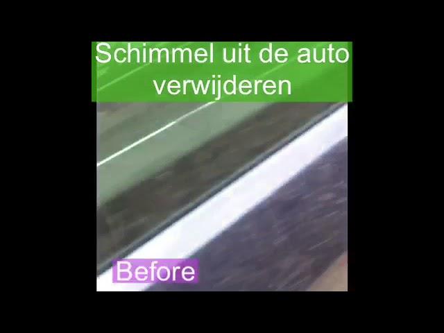 Schimmel in de auto verwijderen