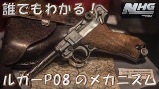 【実銃解説】 誰でもわかる! ルガーP08のメカニズム!!   World of Guns: Gun Disassembly