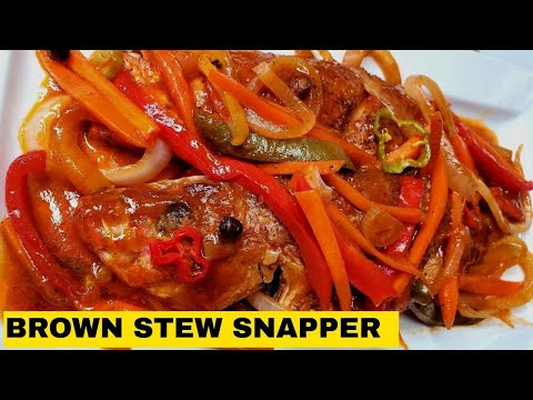 HOW TO MAKE JAMAICAN BROWN STEWED FISH| JERENE'S EATS| JAMAICAN FOOD|BROWN STEW SNAPPER RECIPE