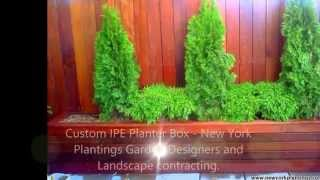 Custom Built Planters By New York Plantings Garden Designers And Landscape Construction Nyc
