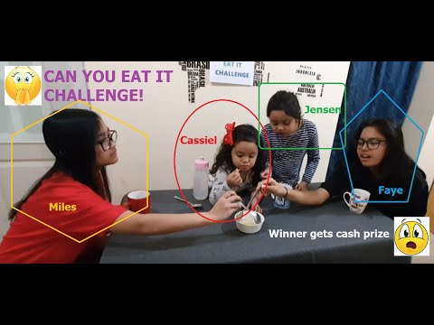 Cassiel Go! CAN YOU EAT IT CHALLENGE. Kids Eat Healthy Veggies. Promote healthy eating!