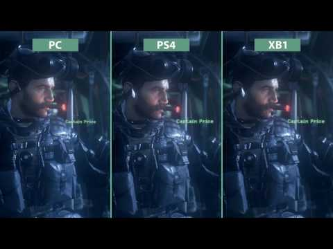 Call of Duty Modern Warfare Remastered     PC vs  PS4 vs  Xbox One Graphics Comparison Poster