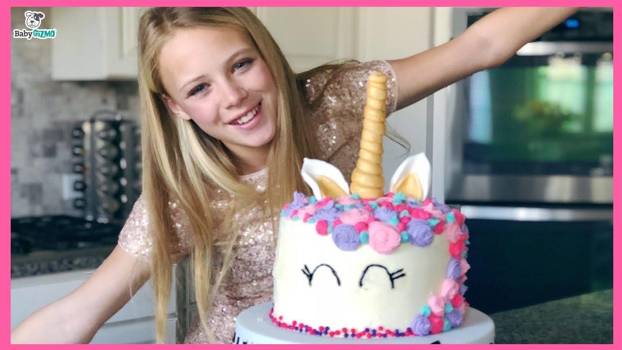 Savannahs 13th Birthday Party Special Unicorn Rainbow Cake Youtube