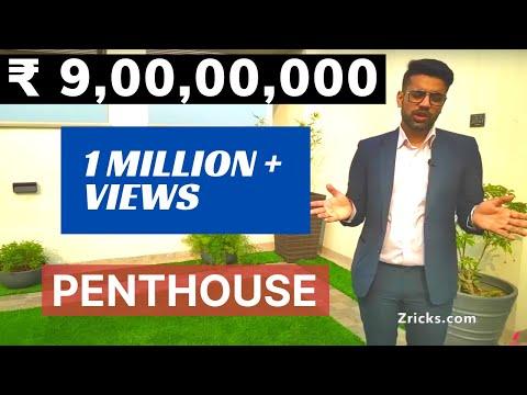 ₹ 9 CR || 5 BHK || 12000 sqft 🏙 Triplex PENTHOUSE Tour #1 Top Luxury Penthouse in Gurgaon 🇮🇳India