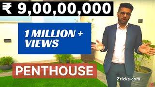 ₹ 9 CR || 5 BHK || 12000 sqft || Triplex PENTHOUSE Tour || Top #1 Luxury Penthouse in Gurgaon, India