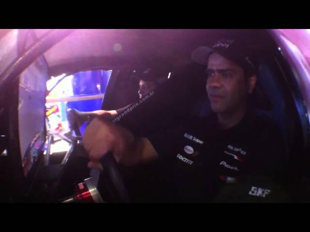 Salão do Automóvel - Nonô Figueiredo pilotando Simulador