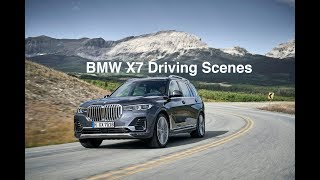 Driving scenes with the new BMW X7